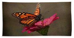 Prefect Landing - Monarch Butterfly Bath Towel