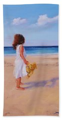 Hand Towel featuring the painting Precious Moment by Laura Lee Zanghetti