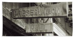 Bath Towel featuring the photograph Preservation Hall, French Quarter, New Orleans, Louisiana by Chris Coffee