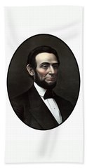 President Abraham Lincoln  Bath Towel