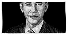 President Barack Obama Graphic Hand Towel by War Is Hell Store