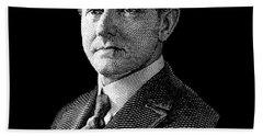 President Calvin Coolidge Graphic Hand Towel