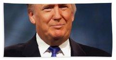 President Donald John Trump Portrait Bath Towel
