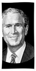 President George W. Bush Graphic Hand Towel