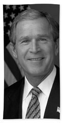 President George W. Bush Hand Towel by War Is Hell Store