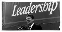 President Ronald Reagan Leadership Photo Hand Towel