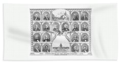 Presidents Of The United States 1776-1876 Hand Towel