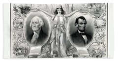 Presidents Washington And Lincoln Hand Towel by War Is Hell Store