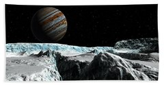 Hand Towel featuring the digital art Pressure Ridge On Europa by David Robinson