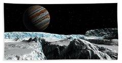 Pressure Ridge On Europa Bath Towel by David Robinson