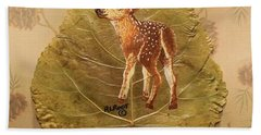 Pretty Baby Deer Hand Towel by Ralph Root