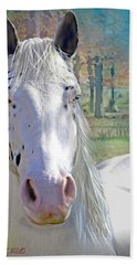 Pretty Eyes Hand Towel by Bonnie Willis