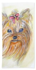 Pretty Girl Hand Towel by Clyde J Kell