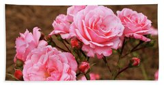 Pretty In Pink Hand Towel by Dennis Baswell