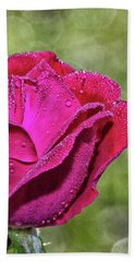 Hand Towel featuring the photograph Pretty In Pink by Laurinda Bowling