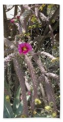 Flower Is Pretty In Pink Cactus Bath Towel