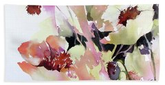 Bath Towel featuring the painting Pretty In Pink by Rae Andrews