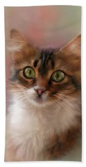 Pretty Kitty Hand Towel by Mary Timman