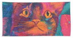 Pretty Kitty Bath Towel by Nancy Jolley