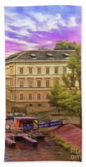 Pretty On The River - Prague Bath Towel