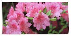 Pretty Pink Azalea Blossoms Hand Towel