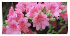 Pretty Pink Azalea Blossoms Bath Towel