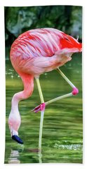 Pretty Pink Flamingo Hand Towel