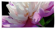 Pretty Pink Peony Flower Wall Art Bath Towel
