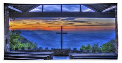 Pretty Place Chapel Sunrise 777  Hand Towel by Reid Callaway