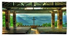 Pretty Place Chapel The Son Has Risen Blue Ridge Mountain Art Bath Towel
