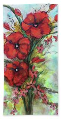 Pretty Poppies Hand Towel