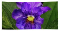 Pretty Purple Pansie Hand Towel