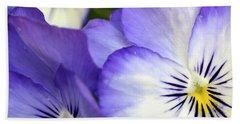 Pretty Violas Bath Towel by Ann Bridges