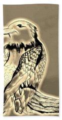 Preying Golden Eagle Hand Towel