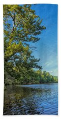 Price Lake Hand Towel by Swank Photography