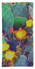 Prickly Pear Cactus 2 Hand Towel
