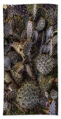 Prickly Pear Cactus At Tonto National Monument Bath Towel