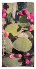 Prickly Pear Cactus Bath Towel