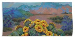 Prickly Pear In The Desert Hand Towel