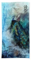 Hand Towel featuring the painting Pride by Mo T