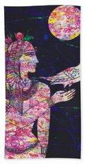 Priestess In Moongarden  Hand Towel