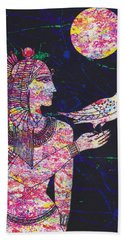 Priestess In Moongarden  Bath Towel