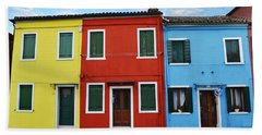 Primary Colors Too Burano Italy Bath Towel