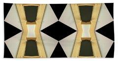 Primitive Graphic Structure Bath Towel