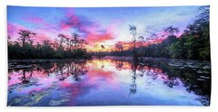Hand Towel featuring the photograph Primordial Sunrise by JC Findley