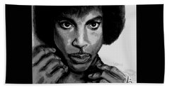 Prince Art - Pencil Drawing From Photography - Ai P. Nilson Hand Towel