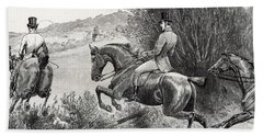Prince Albert Hunting Near Belvoir Castle  Hand Towel