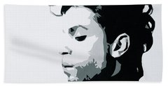 Bath Towel featuring the painting Prince by Ashley Price