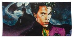 Hand Towel featuring the painting  Prince Batdance by Darryl Matthews