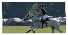Prince Charles Playing Polo At Windsor Bath Towel